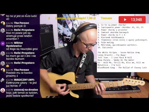 Metallica, U2, Lenny Kravitz, Jett Joan, Deep Purple - Warsztaty o Power Chordach