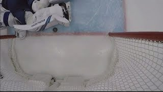 No goal for Ducks, puck potentially crosses line but Vasilevskiy's pad is covering it up