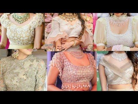 stunning-&-beautiful-50+-bridal-croptop-lehenga-blouse-ideas▪bridal-blouse-designs-for-lehenga/saree