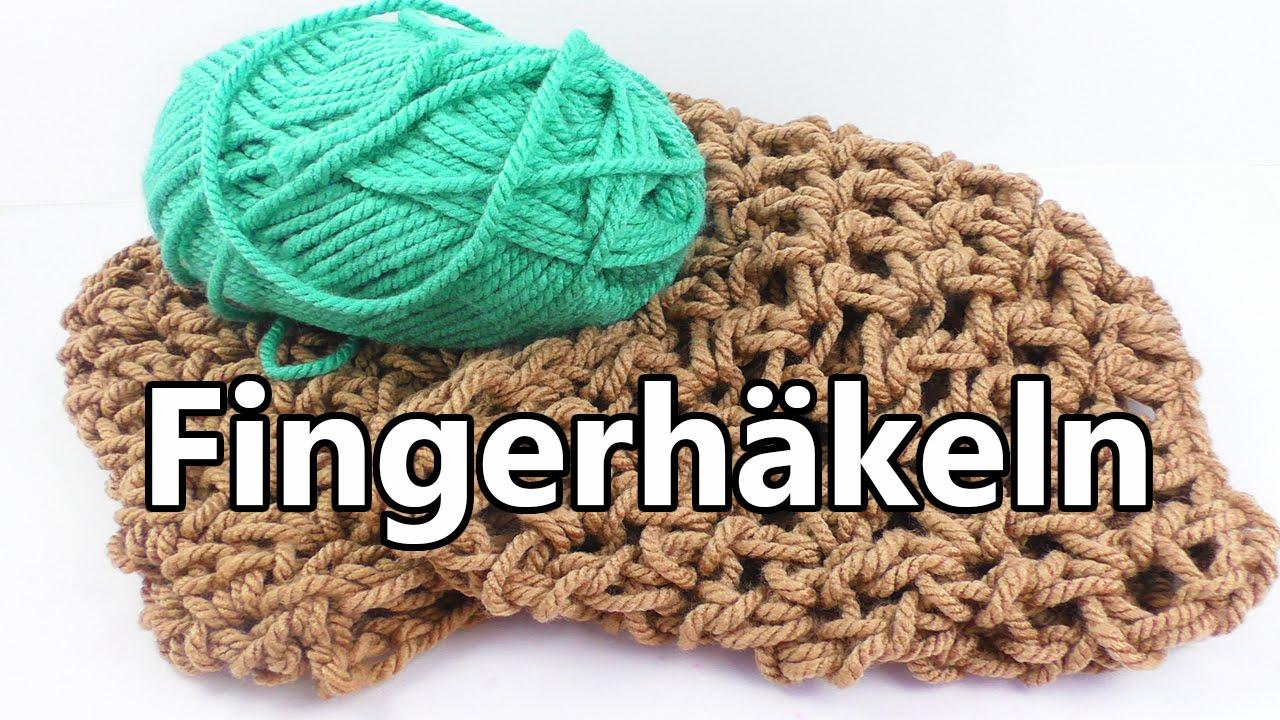 Herbst Schal Mit Den Fingern Häkeln Super Einfache Technik Für
