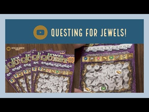 NEW $3.00 JEWEL QUEST Scratch Ticket From The Colorado Lotto!