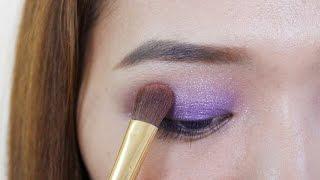 လြယ္ကူရွင္းလင္းေသာ ခရမ္းေရာင္ eye shadow/makeup/eyeliner/eyeline/howto/party/girls thumbnail