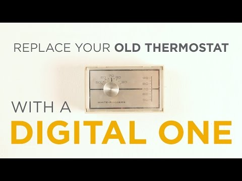 Replace your old thermostat with a digital one  It's easy