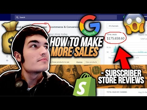INCREASE Your Shopify Sales! | 3 Subscriber Shopify Store Review!