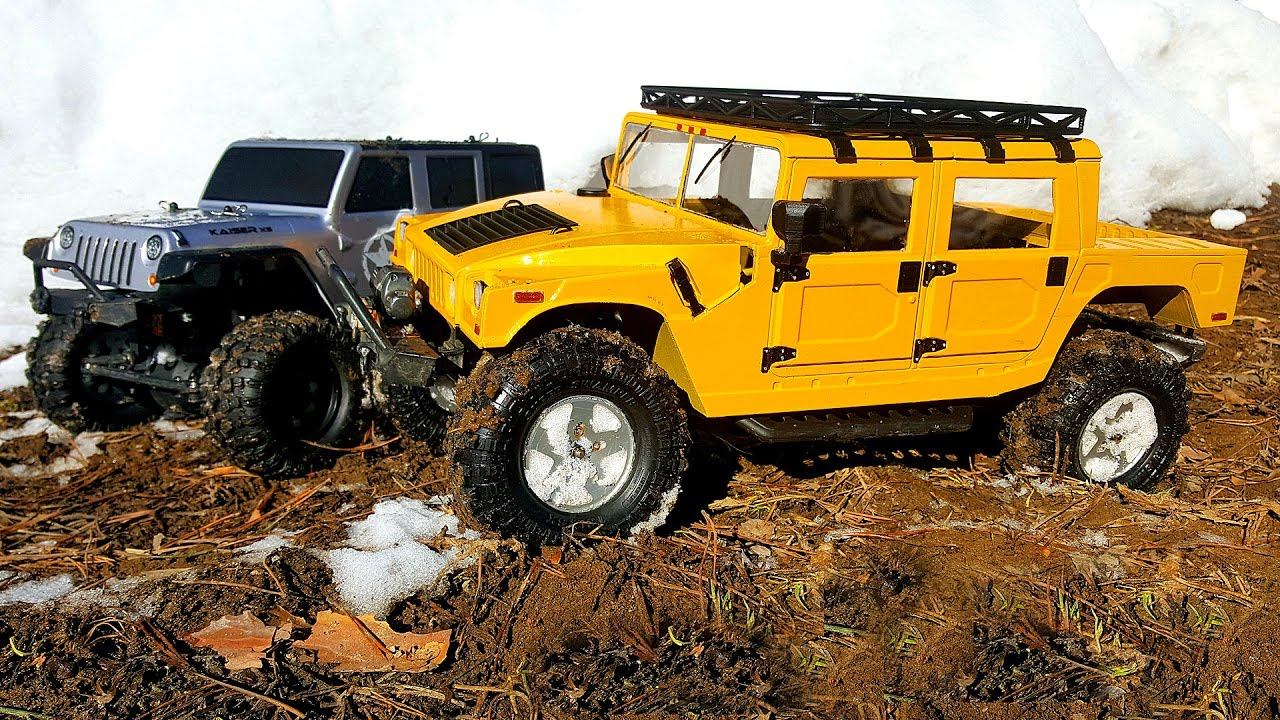 rc cars off road 4x4 hummer h1 axial scx10 and kaiser xs thunder tiger rc extreme pictures. Black Bedroom Furniture Sets. Home Design Ideas