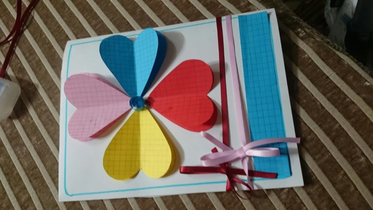 How To Make Handmade Greeting Cards Diy Tutorial Youtube