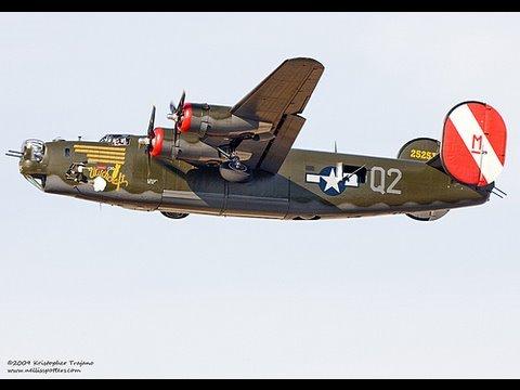 B-24 Liberator Takeoff at Long Beach Airport