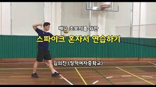 배구 초보자를 위한 스파이크 혼자서 연습하기 (Volleyball Spike Practice for Beginners)