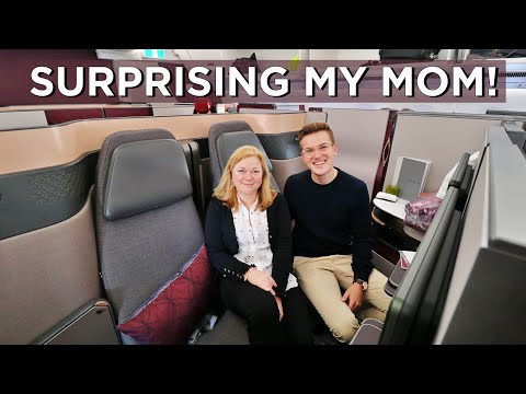 I Bought My Mom A Flight in The World's Best Business Class - Qatar Airways QSuite