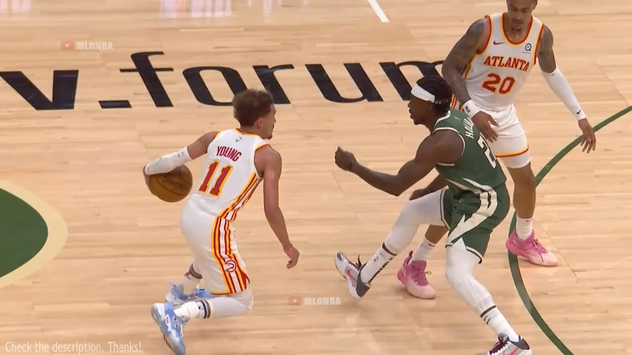 Trae Young did a shimmy before hitting a three 😮 Hawks vs Bucks Game 1
