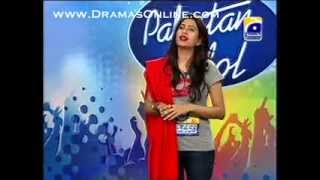 Fiza Javid performing in Pakistan Idol Karachi Auditions