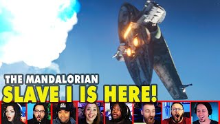 Reactors Reaction To Seeing Slave 1 On The Mandalorian Season 2 Episode 6 | Mixed Reactions