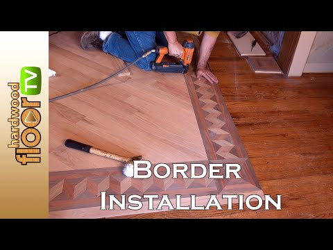 Installing Hardwood Floor Borders