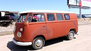 1963 Volkswagen Bus Virtual Tour and Test Drive.  VW Kombi.