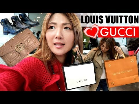 CRAZY😜GETTING INTO GUCCI👍AND ALWAYS LOVE LV ❤️ HOLIDAY Luxe SHOPPING, EATING, NEW HAIR 💇 VLOG✌️