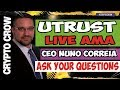 UTRUST Live AMA with Nuno Correia - Paypal Disrupter 😀👥 Utrust ICO