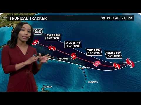 Hurricane Irma Outlook for Sunday, September 3, 2017