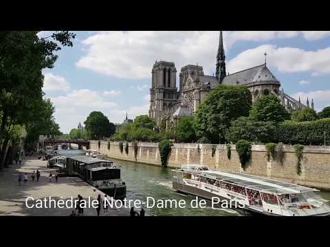 Paris. The Luxembourg garden and Notre-Dame Cathedral