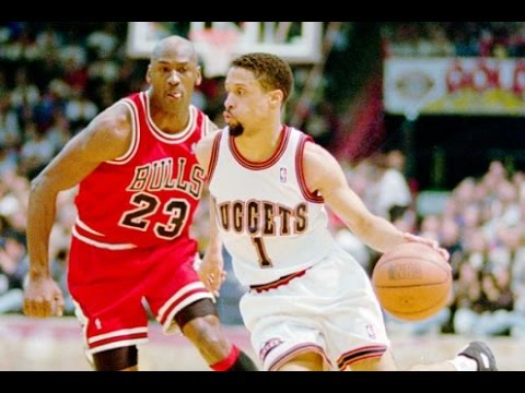 Mahmoud Abdul-Rauf- Nuggets vs. Bulls, '95-'96 Season (Highlights / Nuggets End Bulls Win Streak)