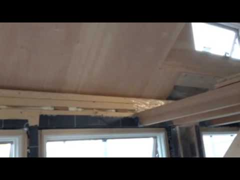 Tiny House Metal Roof And Vapor Barrier Youtube