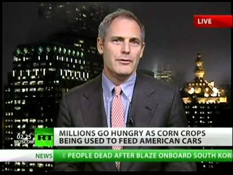 Ethanol fuel to blame for worldwide food shortage?