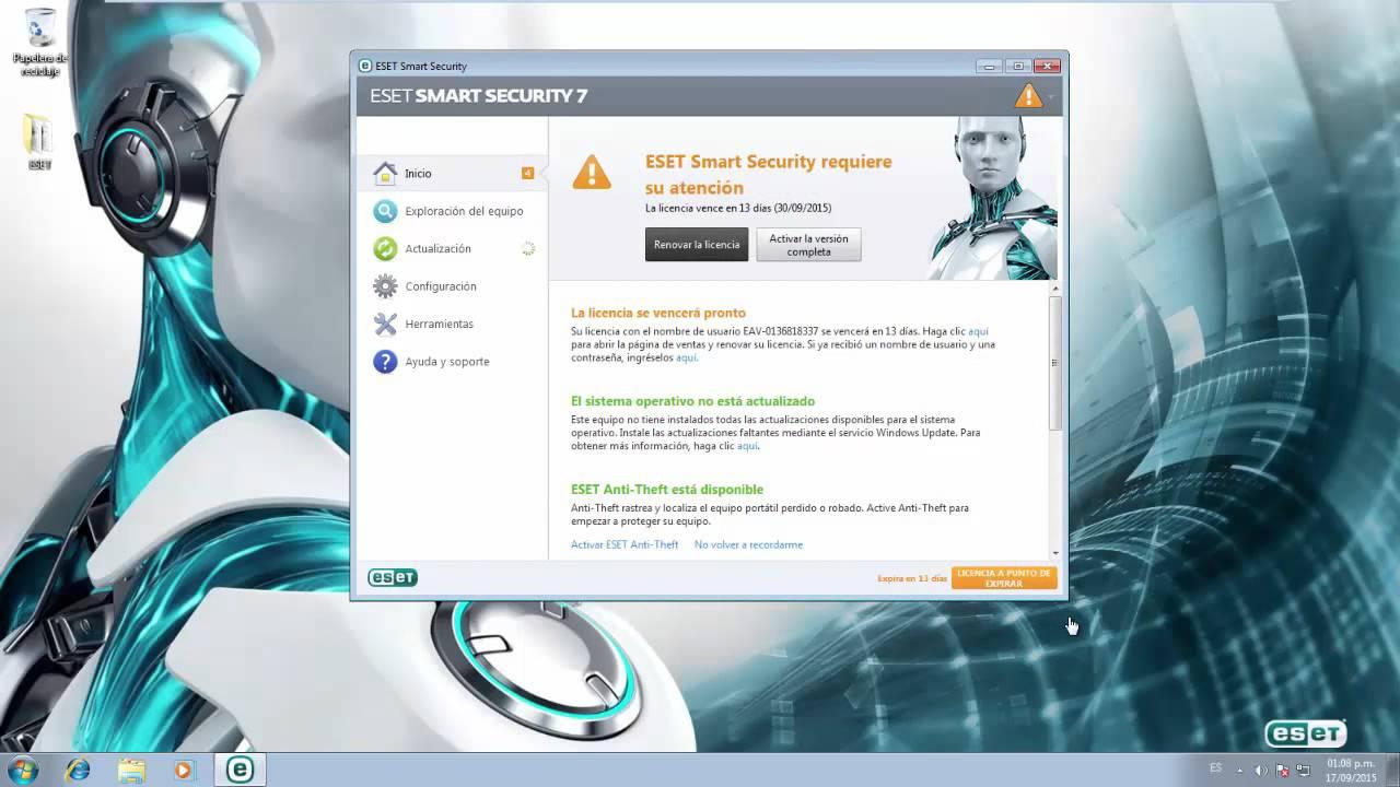 Actualizar eset smart security de version 5 x 6 x 7 x a versi n 8 x desde la misma aplicaci n