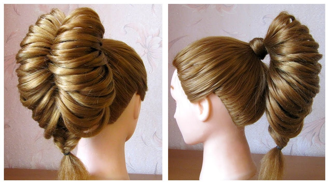 Favori Tuto coiffure: queue de cheval originale et simple 🌺 Tresse épi  ZT34