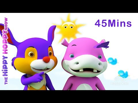 Cool Colors Song Collection | 3D Nursery Rhymes for Kids and Children | Hippy Hoppy Show