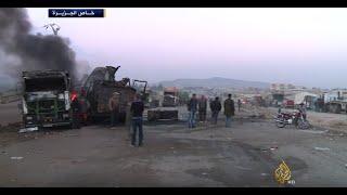 مقاتلات روسية تقصف شاحنات على الحدود بين تركيا وسوريا