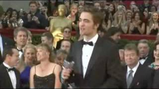 Robert Pattison At The Oscars, Trying To Talk...