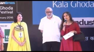 KALA GHODA ARTS FESTIVAL 2016 INAUGURATION BY SIDDHARTH MALHOTRA