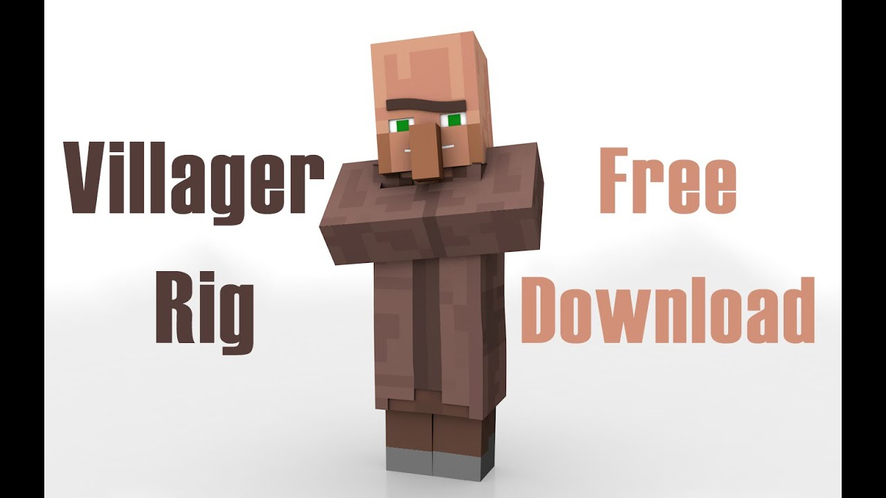 Minecraft Wallpaper 3d Herobrine Villager Rig Template Free Download Youtube