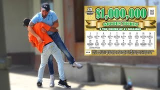 FAKE $10,000 LOTTERY TICKET PRANK on Strangers