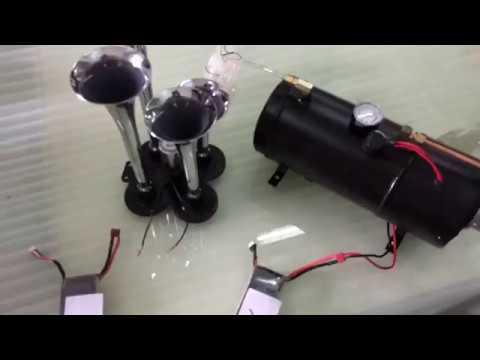 4 trumpet 110 psi air system 150db metal 12v train air. Black Bedroom Furniture Sets. Home Design Ideas