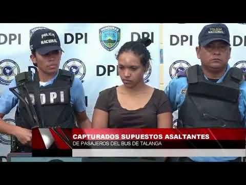 Capturan a supuestos asaltantes de autobús en Talanga