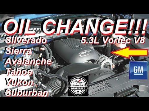 Chevy Silverado 5.3L Oil Change Filter How To GM V8 1998-2007 Avalanche Tahoe Sierra Yukon Escalade