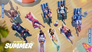 Fortnite 14 DAYS Of SUMMER! - NEW FREE Skins and Items + 14 NEW LTM's, 14 Unvaulted Weapons!