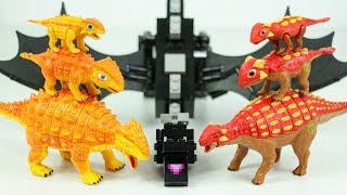 공룡메카드 더블피규어 배틀영상 사이카 안킬로사우루스 드래곤좀비 공룡변신 장난감 놀이 Dino Mecard Toys Battle Dragon TinySaur