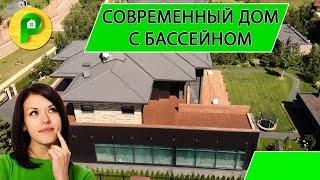 Строительство двухэтажного дома, стиль Хай-Тек, панорамное остекление, мансарда | РЕМСТРОЙСЕРВИС