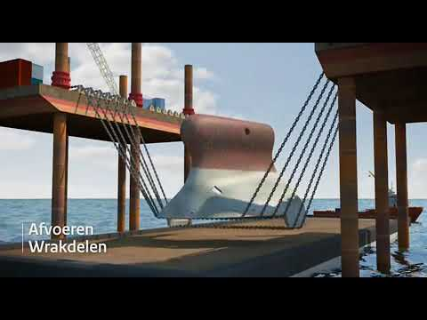 Titan Salvage - The animation of the wreck removal of the m/v Vinca Gorthon