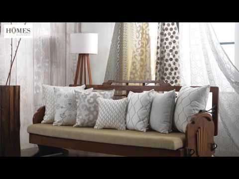 Embroidery Cushions & Curtains | Embroidery Home Fabric Collection at Homes Furnishings
