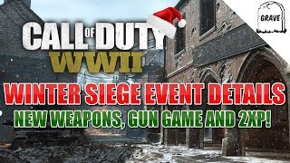 Call of Duty Winter Siege New Weapons, Gun Game And 2XP!