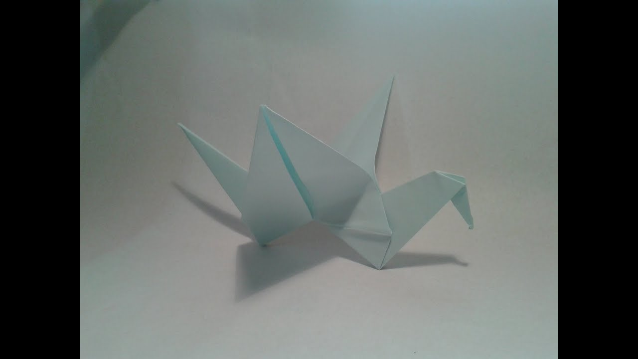 Origami - How to make an easy origami flapping bird - YouTube - photo#11