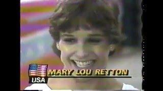 Olympics - 1984 Los Angeles - Gymnastics - Womens Vault Finals - USA Mary Lou Retton - Perfect 10