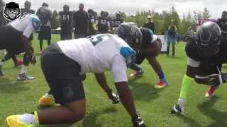 "The Opening 2015: OL vs DL ""Run Block"" 1 on 1"