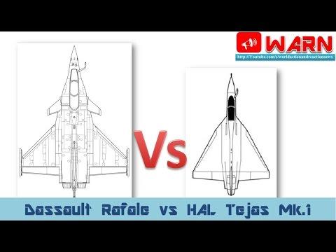 Dassault Rafale Fighter Vs HAL Tejas Mk.1 Fighter