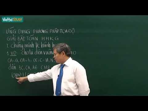 Ứng dụng hình học giải tích để giải các bài toán hình học không gian - kenhdaihoc.com