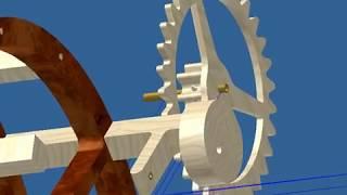 Wooden Gear Clock 3d