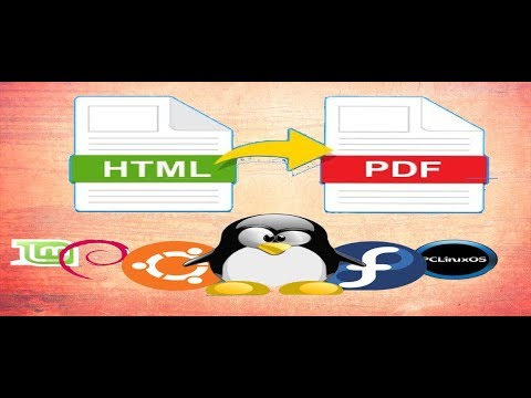 How To Convert Html File To Pdf ( Linux Mint Or Ubuntu)