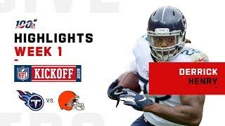 Derrick Henry's Big Day w/ 159 Yds & 2 TDs | NFL 2019 Highlights